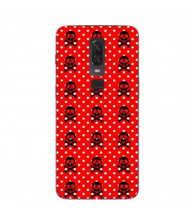 Coque ONE PLUS 6 mort skull pois rouge multi