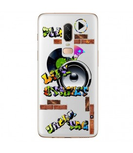 Coque ONE PLUS 6 tag graffiti urban transparente