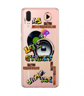 Coque P20 PRO tag graffiti urban transparente