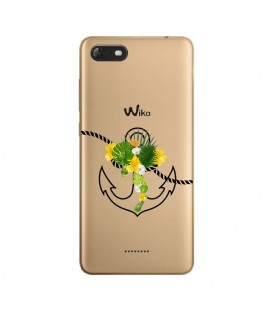 Coque Harry 2 ancre fleur tropical transparente