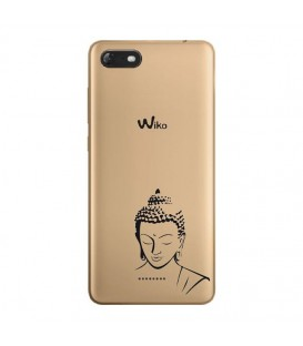 Coque Harry 2 bouddha noir transparente