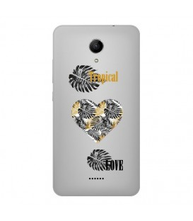 Coque Harry 2 tropical love coeur transparente