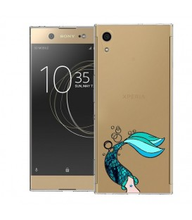 Coque Xperia XA1 ULTRA sirene mermaid bleu transparente