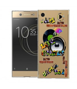 Coque Xperia XA1 ULTRA tag graffiti urban transparente