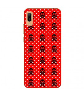 Coque Y5 2019 Honor 8S mort skull pois rouge multi