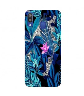 Coque Galaxy A20E tropical fleur rose exotique