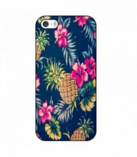 Coque iphone 6 6S Ananas Fleur rose Tropical Exotique hawaii aloha