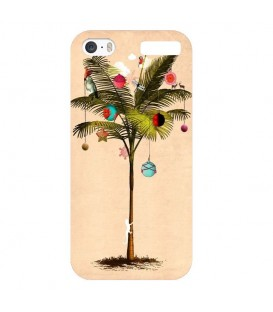 Coque Ipod touch 5 touch 6 noel tropical palmier sapin