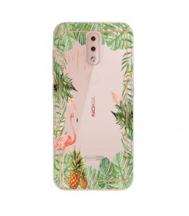 Coque NOKIA 4.2 Tropical day Flamant Ananas summer Exotique fleur