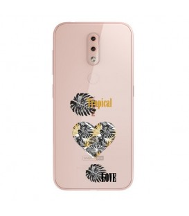 Coque NOKIA 4.2 tropical love coeur transparente