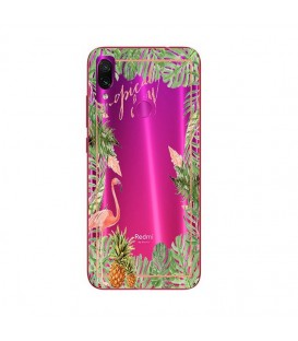 Coque Redmi 7 Tropical day Flamant Ananas summer Exotique fleur