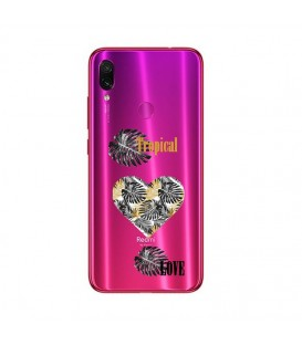 Coque Redmi 7 tropical love coeur transparente