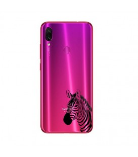 Coque Redmi 7 zebre wild jungle raye transparente