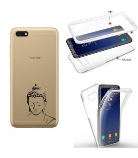 Coque Y5 2019 Honor 8S integrale bouddha noir transparente