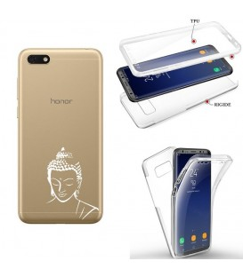 Coque Y5 2019 Honor 8S integrale bouddha blanc transparente