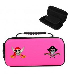 Etui pochette rose Nintendo Switch LITE pirates