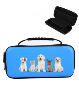 Etui pochette Nintendo Switch LITE bleu chien 3 dog