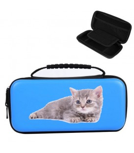 Etui pochette Nintendo Switch LITE bleu chat cat
