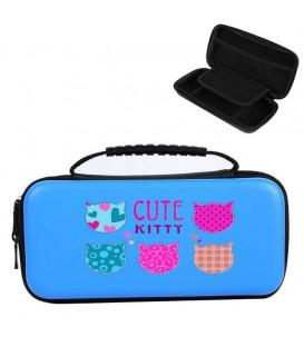 Etui pochette Nintendo Switch LITE bleu kitty chat cat
