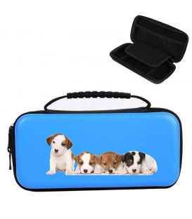 Etui pochette Nintendo Switch LITE bleu chien 2 dog