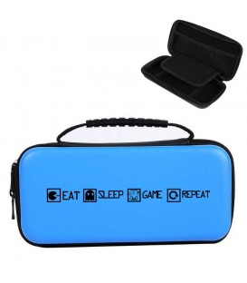 Etui pochette Nintendo Switch LITE bleu eat sleep repeat
