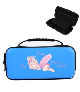 Etui pochette Nintendo Switch LITE bleu fee princesse
