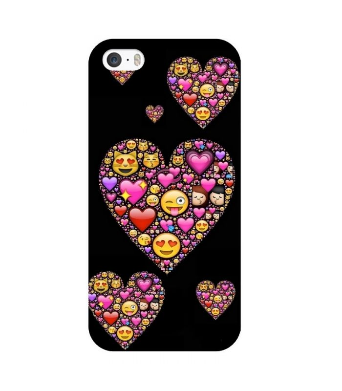 coque iphone 6 6s smiley coeur fun love emojii emoticone