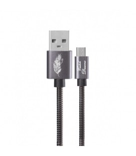 Cable micro USB gris plume blanc