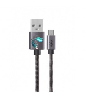 Cable micro USB gris sirene