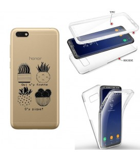 Coque Redmi 7A integrale cactus noir tropical exotique quotes transparente