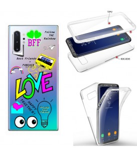 Coque Galaxy note 10 PLUS integrale BAE love tag BFF best friends transparente