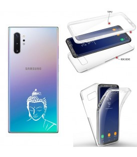 Coque Galaxy note 10 PLUS integrale bouddha blanc transparente