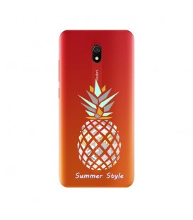 Coque Redmi 8A ananas aztec tropical exotique transparente
