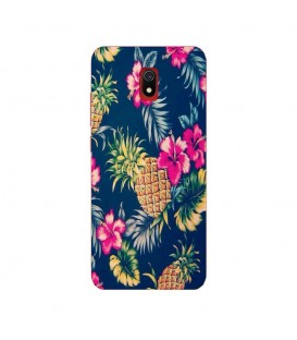 Coque Redmi 8A Ananas Fleur rose Tropical Exotique