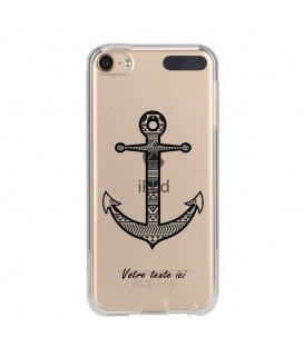 Coque Ipod touch 5 touch 6 personnalisee ancre aztec noir