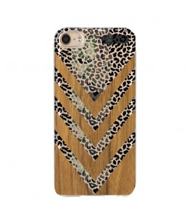 Coque Ipod touch 5 touch 6 effet bois leopard camouflage transparente