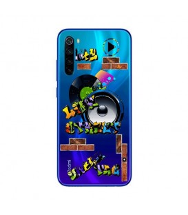 Coque Redmi NOTE 8T tag graffiti urban transparente