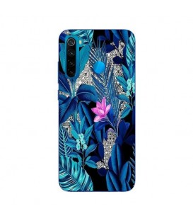 Coque Redmi NOTE 8T tropical fleur rose exotique
