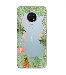 Coque Nokia 6.2 7.2 Tropical day Flamant Ananas summer Exotique fleur