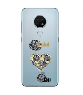 Coque Nokia 6.2 7.2 tropical love coeur transparente