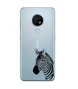 Coque Nokia 6.2 7.2 zebre wild jungle raye transparente