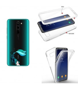 Coque Redmi NOTE 8 integrale sirene mermaid bleu transparente
