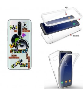 Coque Redmi NOTE 8 integrale tag graffiti urban transparente