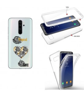 Coque Redmi NOTE 8 integrale tropical love coeur transparente