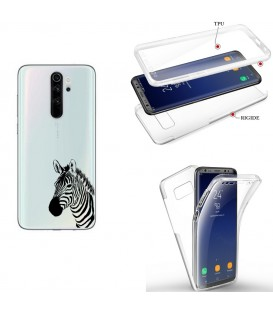 Coque Redmi NOTE 8 integrale zebre wild jungle raye transparente