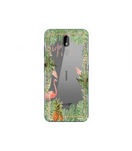 Coque Nokia 3.2 Tropical day Flamant Ananas summer Exotique fleur