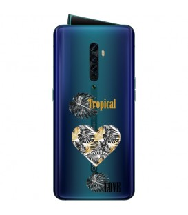 Coque OPPO RENO 2 tropical love coeur transparente