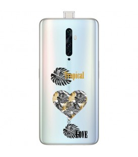 Coque OPPO RENO 2Z tropical love coeur transparente