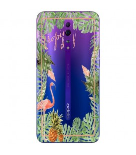 Coque RENO Z Tropical day Flamant Ananas summer Exotique fleur