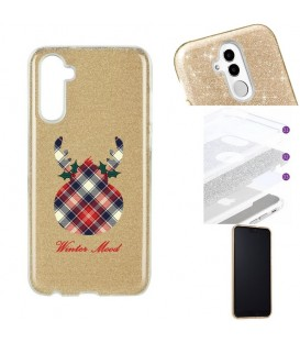 Coque Galaxy NOTE 10 paillettes winter mood tartan